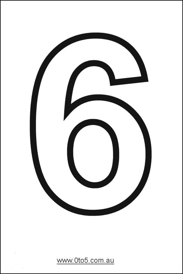 Printable number 6 template week 5 pinterest numbers for Number 9 cake template