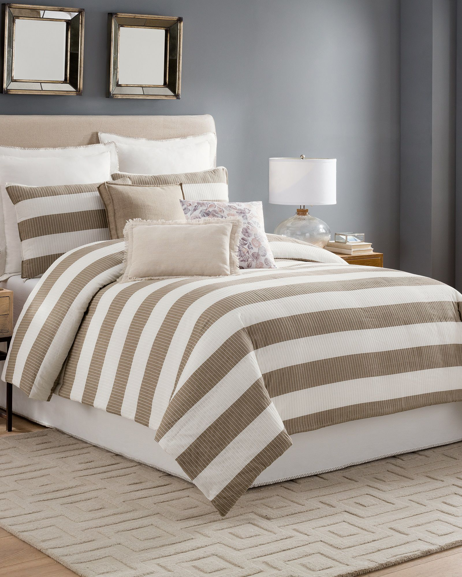 Taupe Striped Queen Comforter Set | *Home & Garden* in 2019 ...
