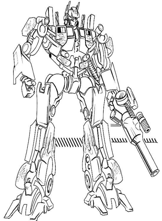 Robot Optimus Frame The Transformers Coloring Pages
