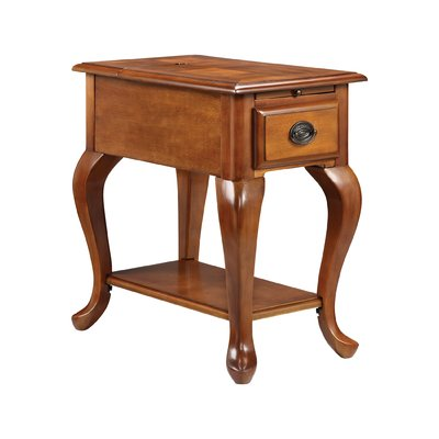 Alcott Hill Miranda End Table With Storage Chair Side
