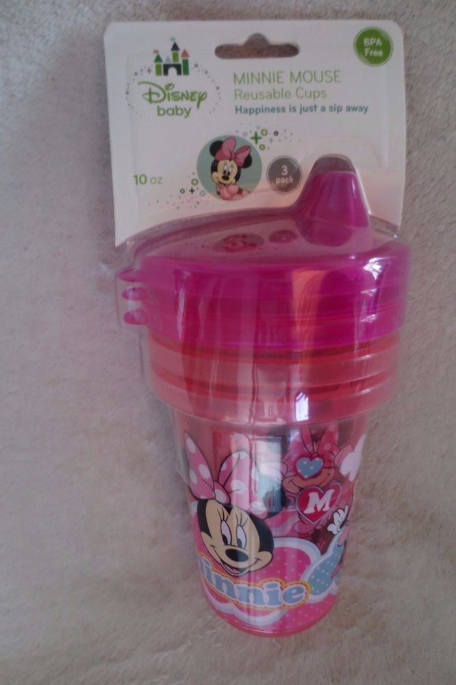 Disney BPA Free Plastic Pacifiers Minnie Mouse OR Mickey Mouse 1 Per Package New