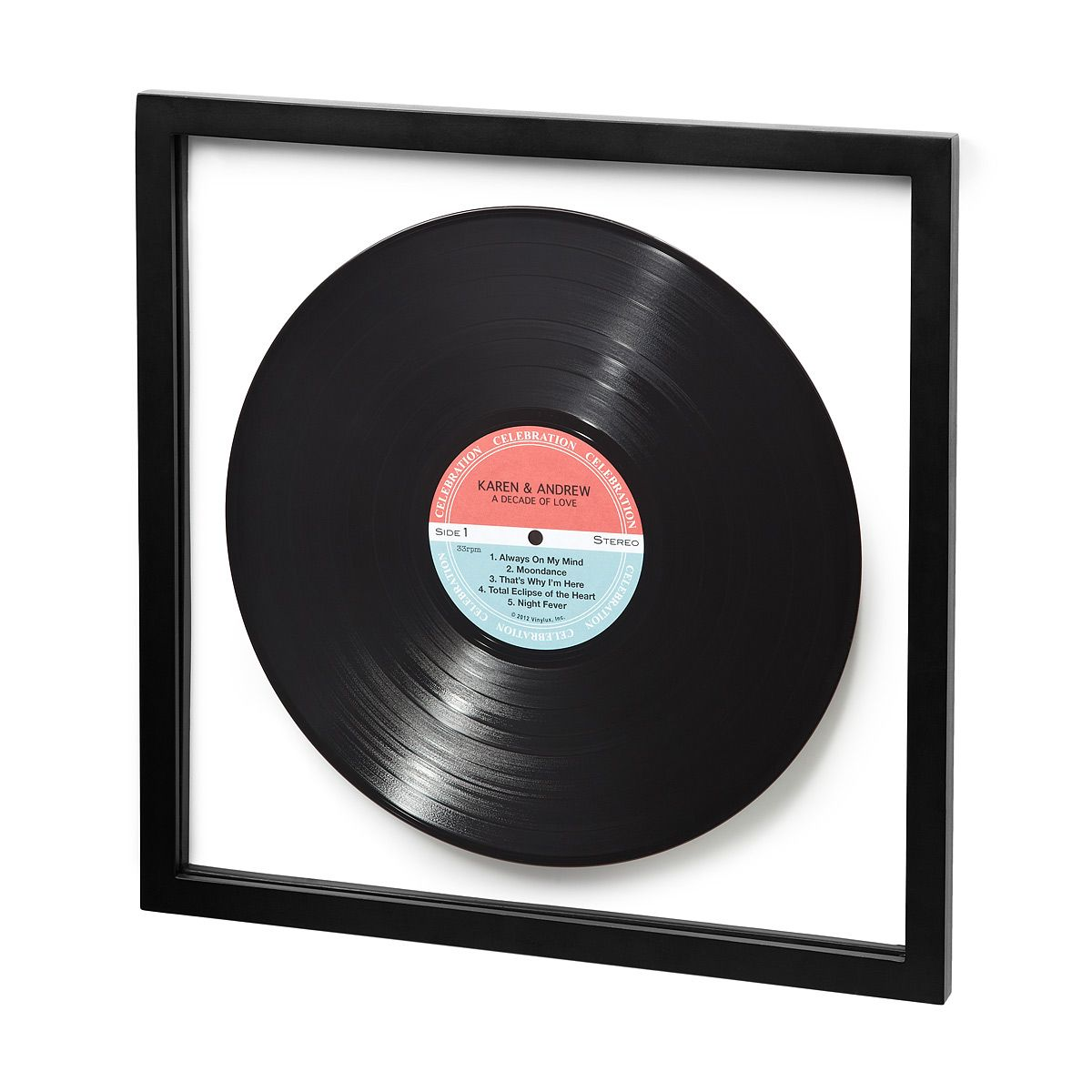 Two Tone Orange Personalized Lp Record Personalized