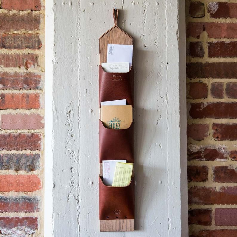 The Postman Personalized Wall Mounted Mail Organizer