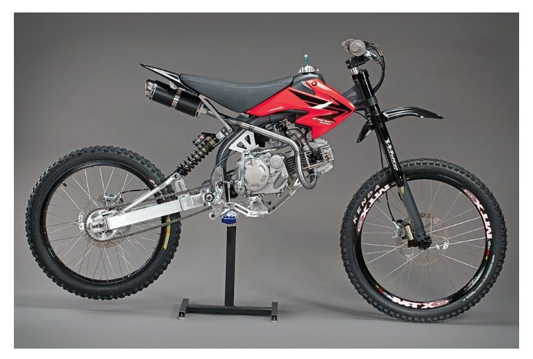 Motoped conversion kit.....1/2 pit bike, 1/2 mountain bike