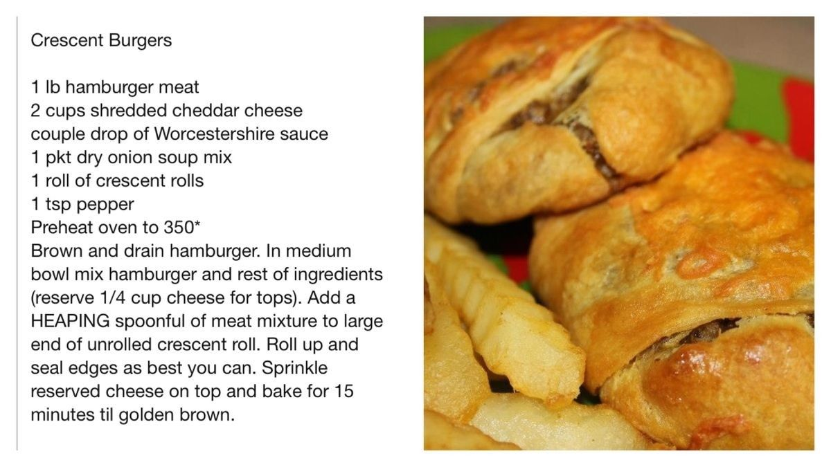 Crescent Roll Burgers, Delicious Cheeseburgers Without The Mess, What An Awesome Idea!