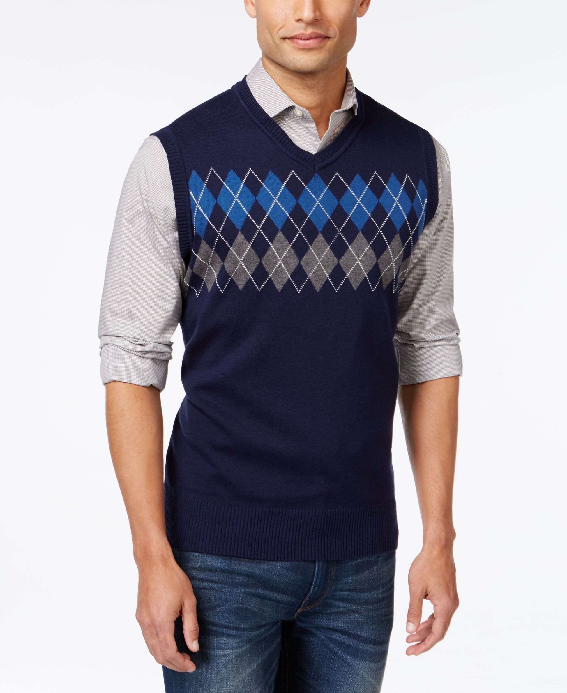 Club Room Big and Tall Argyle Sweater Vest, Only at Macy's ...