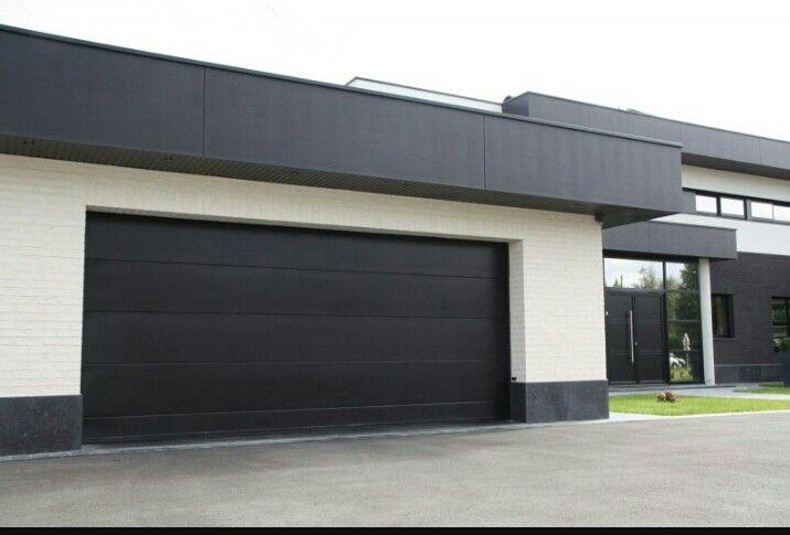 noir et garage contemporain porte de garage pinterest garage contemporain et noir. Black Bedroom Furniture Sets. Home Design Ideas