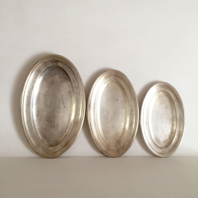 antique silver hotel platters by lavieenpastis