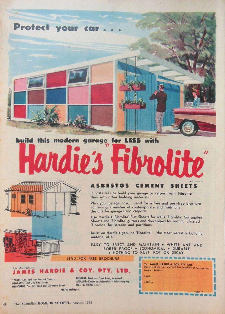 Original Von 1958 Bauplan Garage Im Stil Der 50er Jahre Heimwerker Baupläne