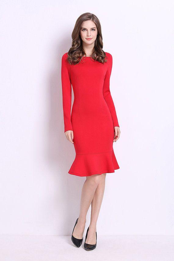 Mujeres vestido de rojo