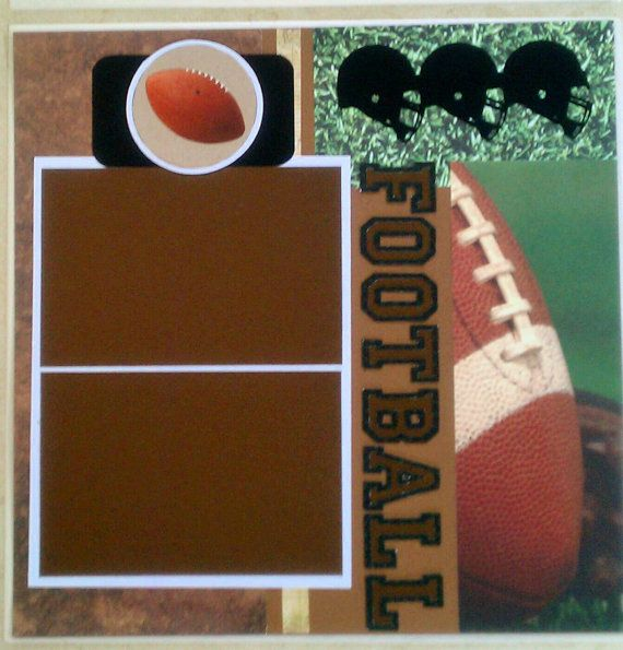 Football 12x12 Premade Scrapbook Layout Page By Ohioscrapper 1500