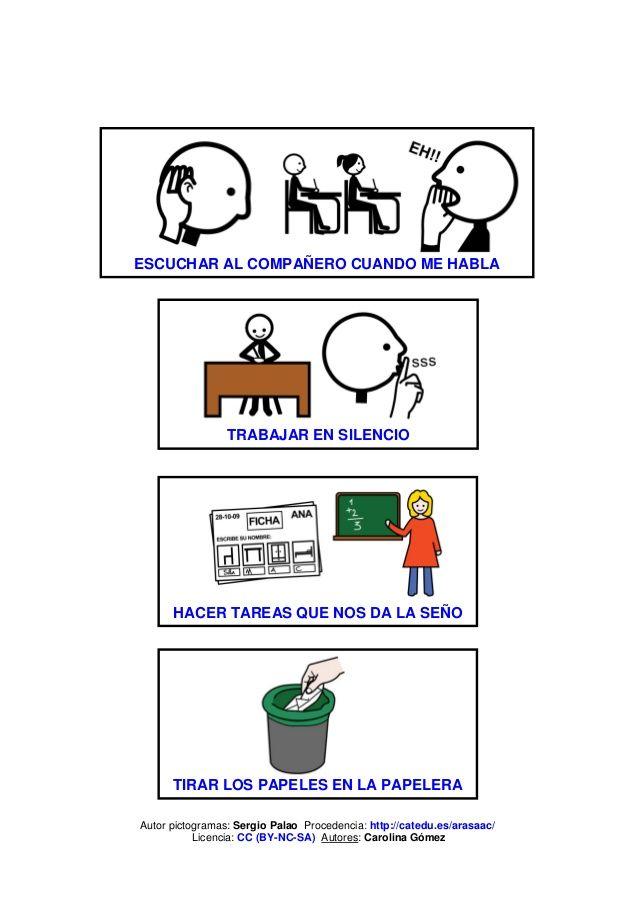 Normas para la clase pictogramas carteles pinterest for 10 reglas para el salon de clases en ingles