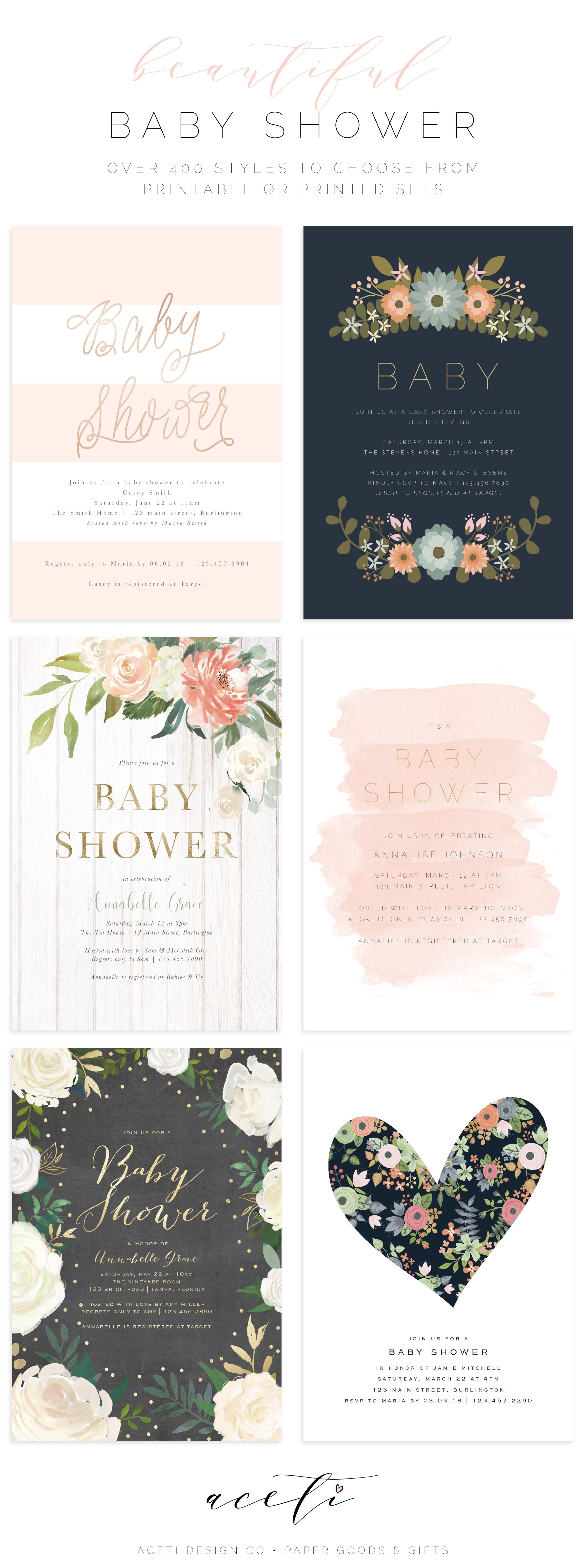 Browse hundreds of beautiful baby shower invitations