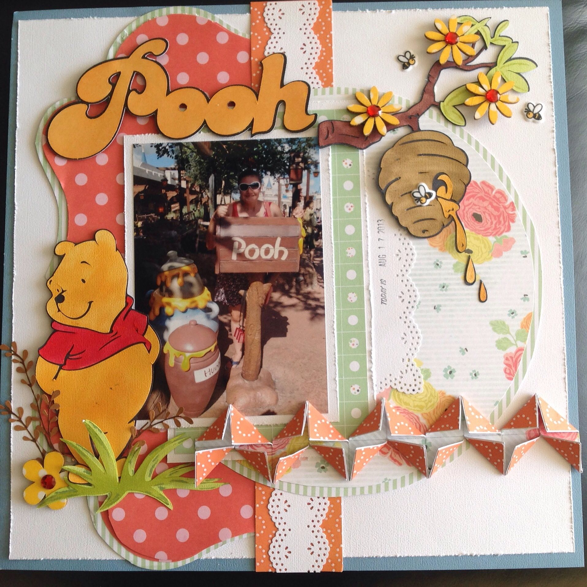 Disney scrapbook layout.... Pooh Bear