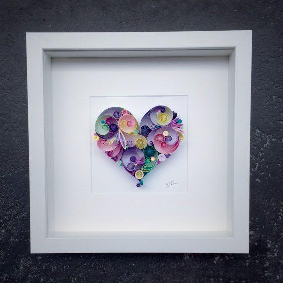 Este arte enclavijada papel nombrado camino hacia el amor es hecho a ...
