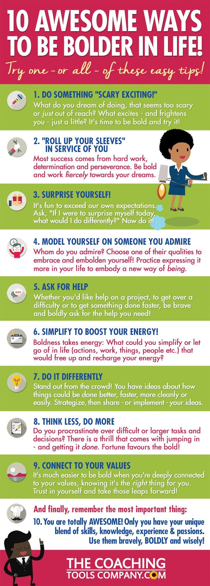 BE BOLD! 10 Awesome Ways to Be Bolder in Life (Infographic ...