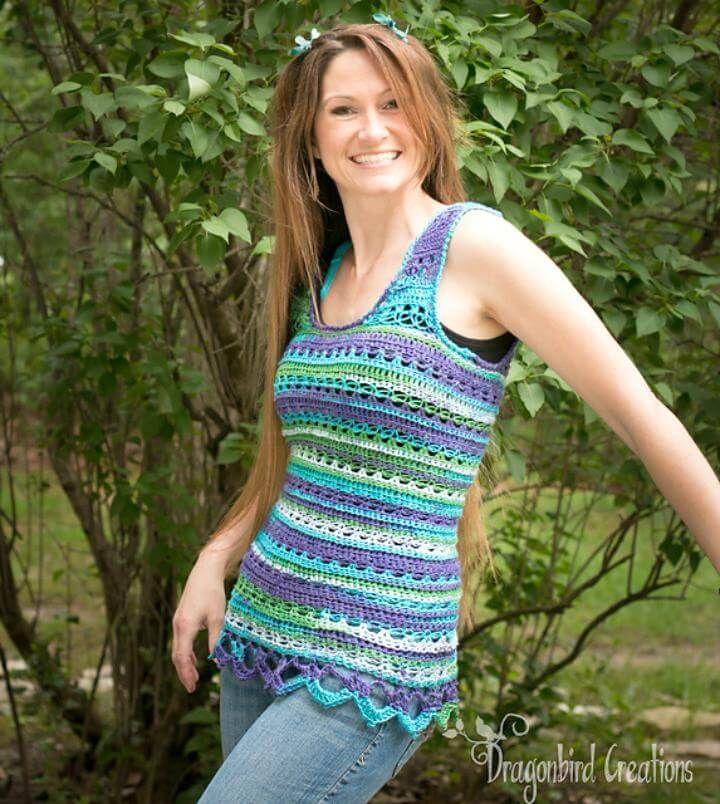 Crochet Tank Top - 10 Free Crochet Patterns | Crochet tank tops ...