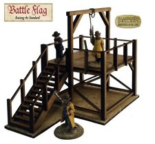 28mm Old Wild West Gallows Building Kit Laser Cut Mdf