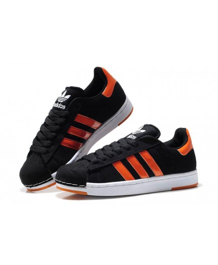 adidas superstar black orange