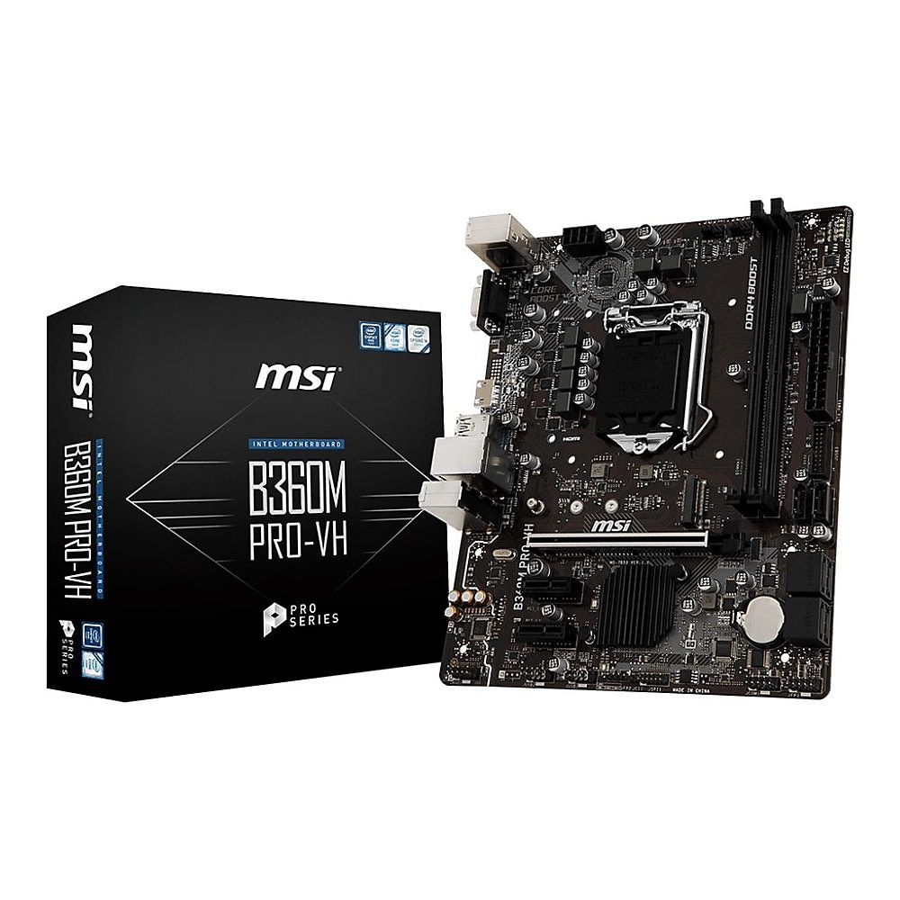 Msi B360m Pro Vh Desktop Motherboard Intel Chipset Socket H4