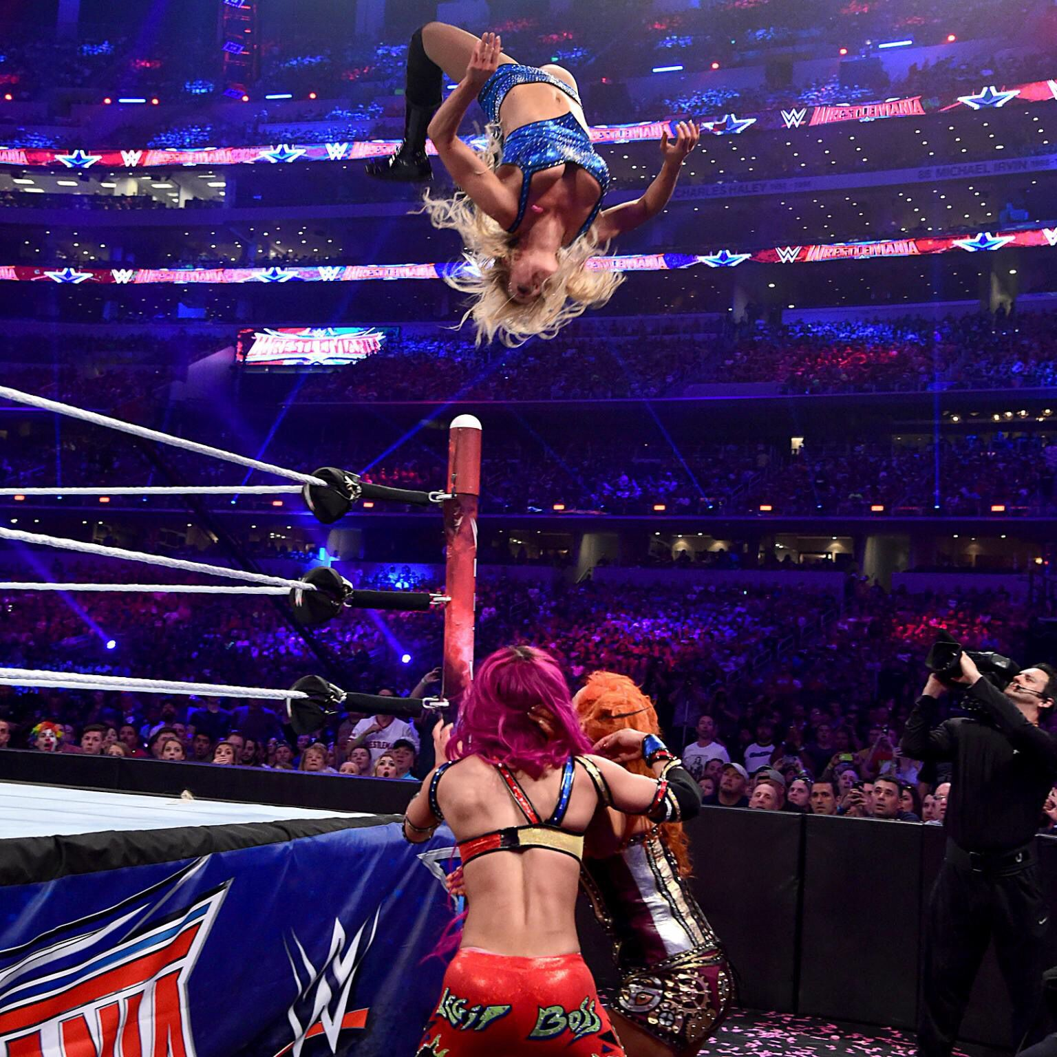 Charlotte Launches Into A Stunning Moonsault  Wwe  Wwe -2246