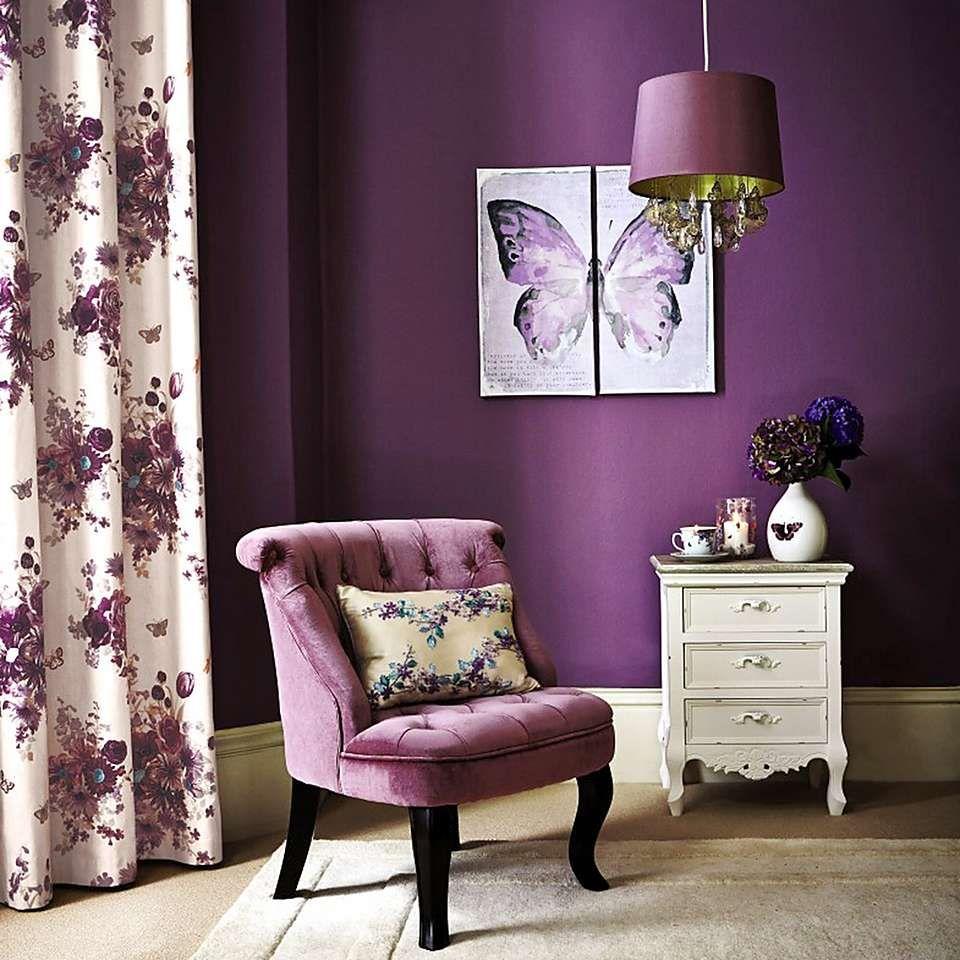 Mauve Bardot Velvet Occasional Chair | Dunelm
