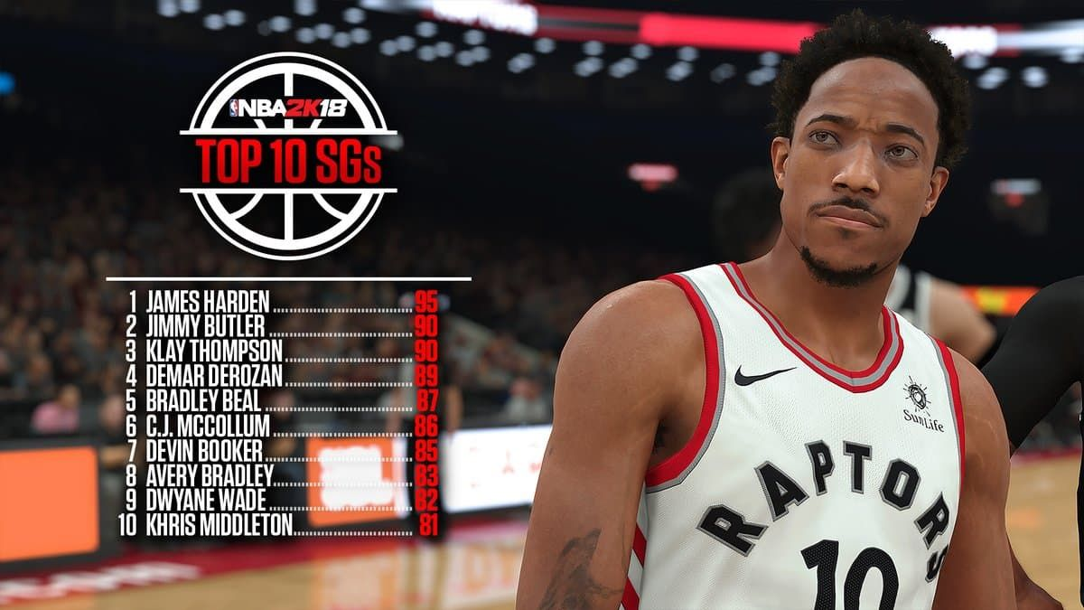 NBA 2K18 Ratings - Top 10 Shooting Guards - Sports Gamers Online