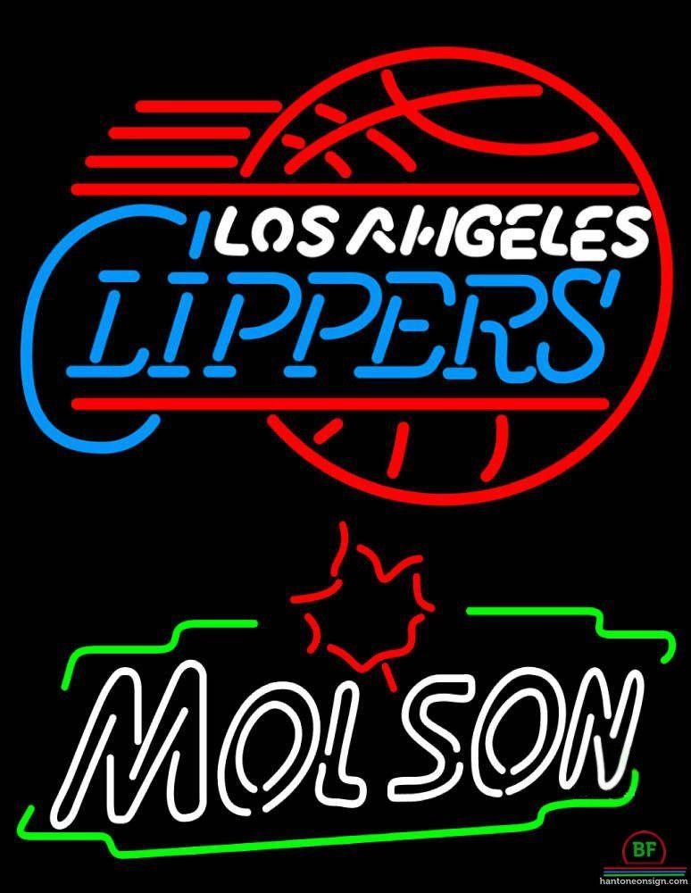 Neon Signs Los Angeles Molson Los Angeles Clippers Neon Sign Nba Teams Neon Light  Los