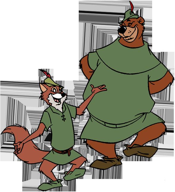 Clip Art Of Robin Hood And Little John Robinhood Robin Hood Disney Robin Hood Robin Hood Costume