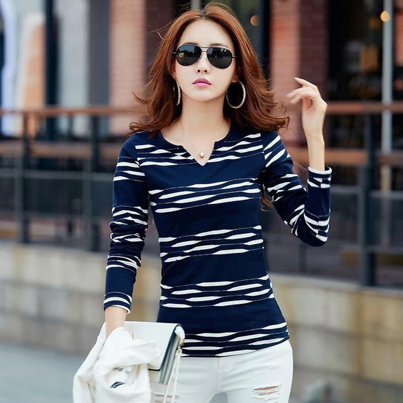 Tshirt Camisetas Mujer Striped. Tshirt Camisetas Mujer Striped Casual T  Shirts af375f725b06