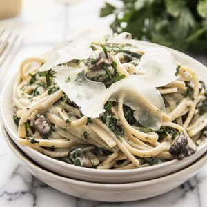 This creamy parmesan mushroom fettuccine is quick and easy to prepare in 20 minutes. Rich, cheesy, and flavorful; made with garlic and spinach. Today I've prepared for you: An indulgent, heavenly plate of creamy parmesan mushroom fettuccine. For those days when nothing but savory, rich, creamy pasta will do. You have those days too, …
