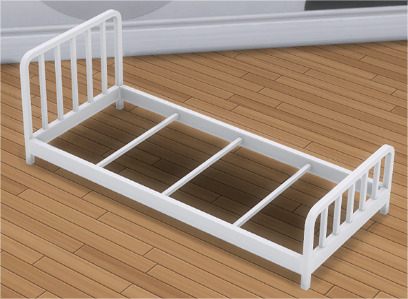 Toddler Metal Bed Frame & Mattress in 2020 Sims 4 beds