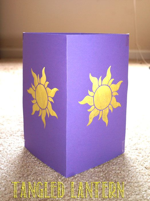 Step by Step with pictures instructions on how to make a Disney Tangled Star Flower Lantern to go with your Tangled birthday decorated party.