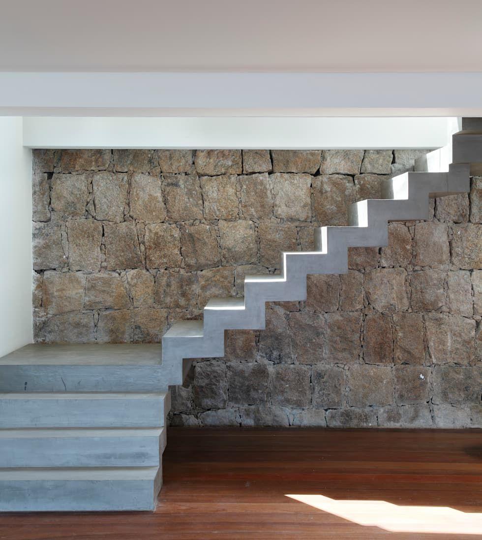Ideas im genes y decoraci n de hogares pasillos for Modelos de escaleras de concreto para segundo piso