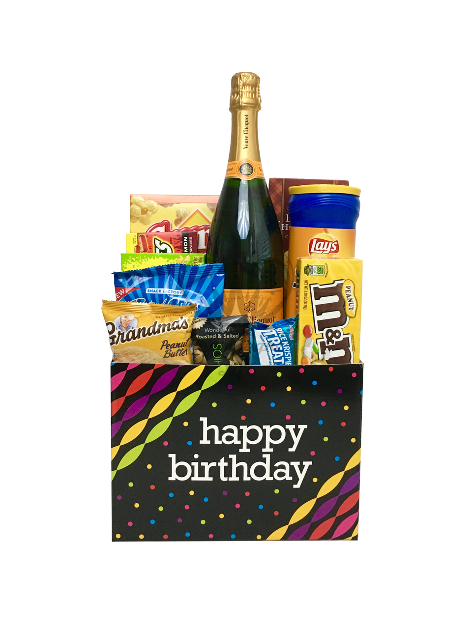 The Veuve Clicquot Birthday Gift Basket Is Available For Same Day Delivery In Las Vegas NV Custom Champagne Sets Corporate Gifts Or Build Your Own