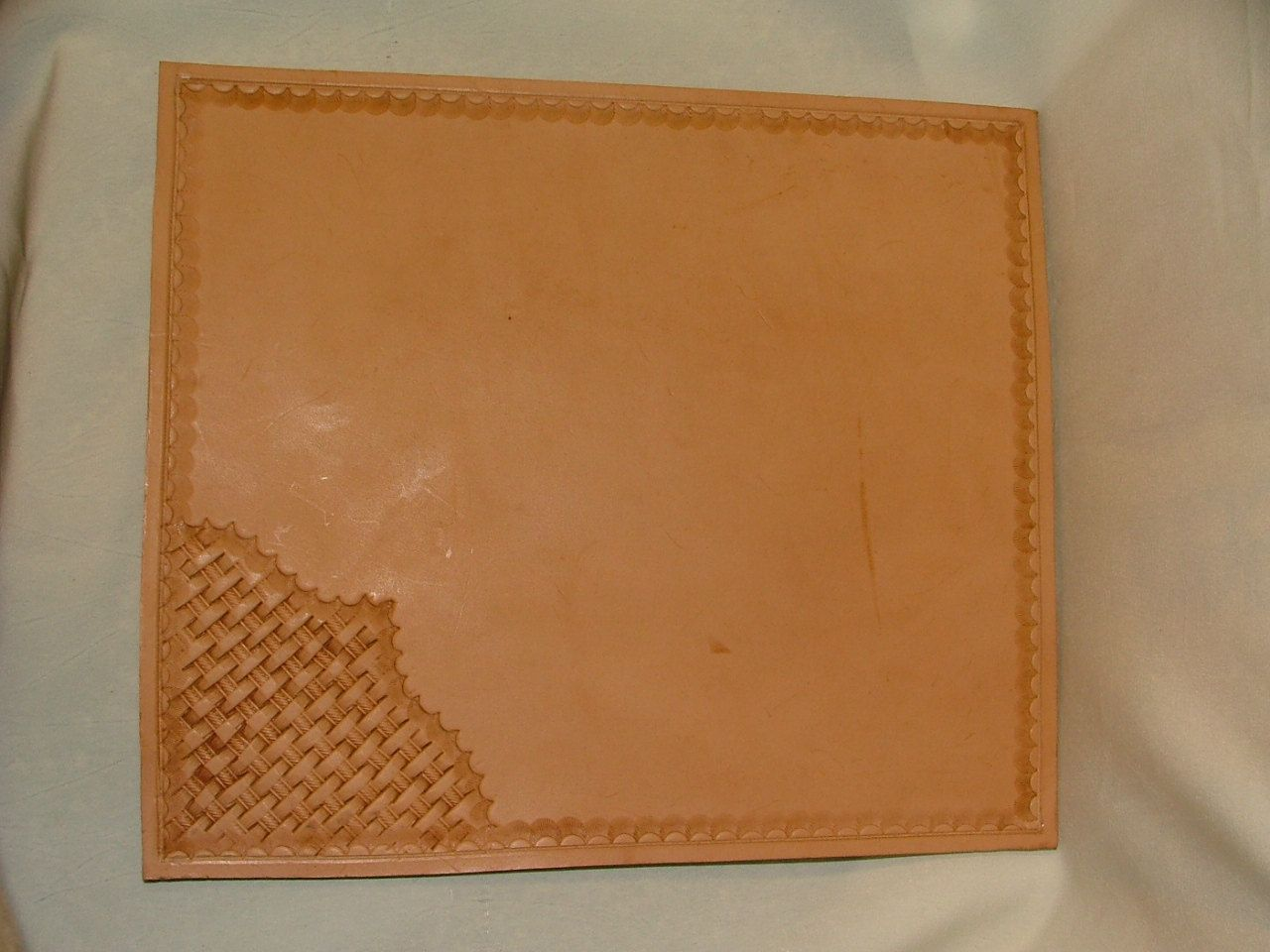 Hand Tooled Leather Mouse Pad. 9 X 10 3/4 Inch - MP 1001. $19.95, via Etsy.