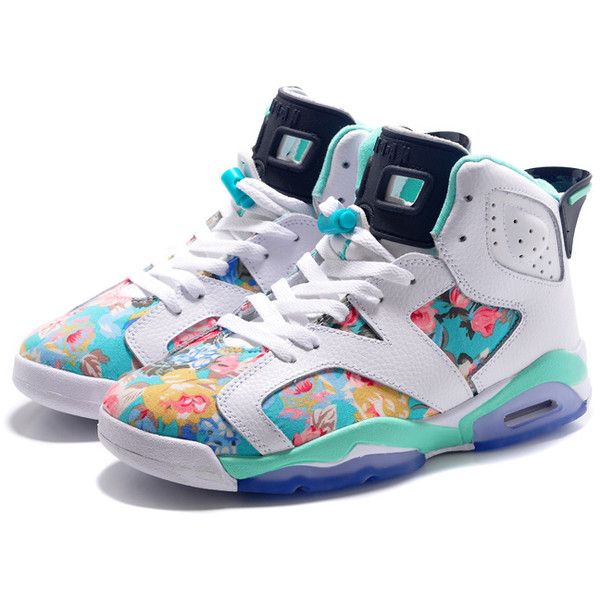 timeless design 59f68 16d25 ... italy buy womens air jordan retro 6 white jade flower outlet store  discount from reliable womens