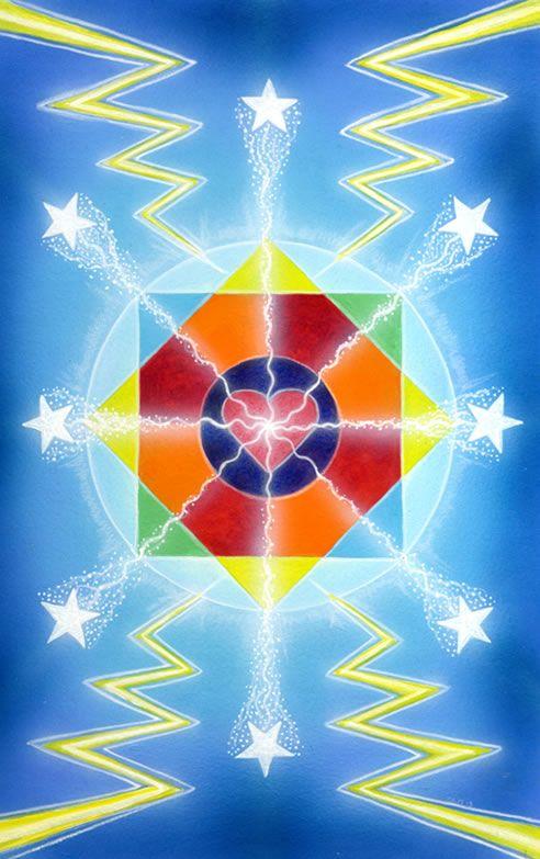 8 de bâtons - The Star Tarot par Cathy McClelland