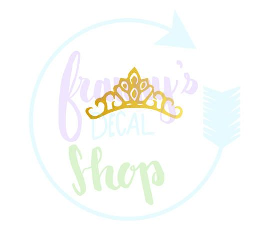 Crown Decal for Laptop, Car, Cups or Anything You Want To