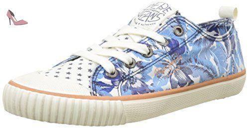 London Bleu 38 Basses EU Anyl femme Pepe Sneakers Jeans gwfBnxqUv