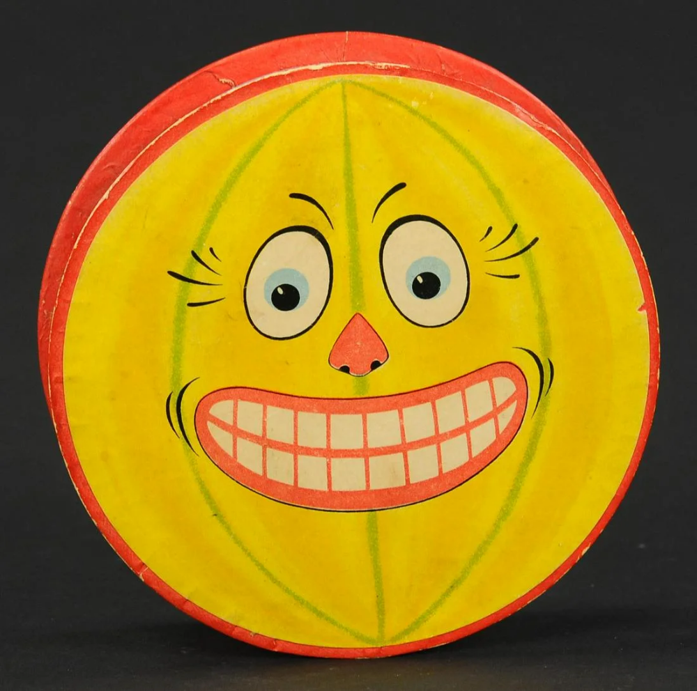Vintage Halloween Auctions 2020 For Auction: GRINNING JACK O LANTERN DISK CANDY CONTAINER (#1476