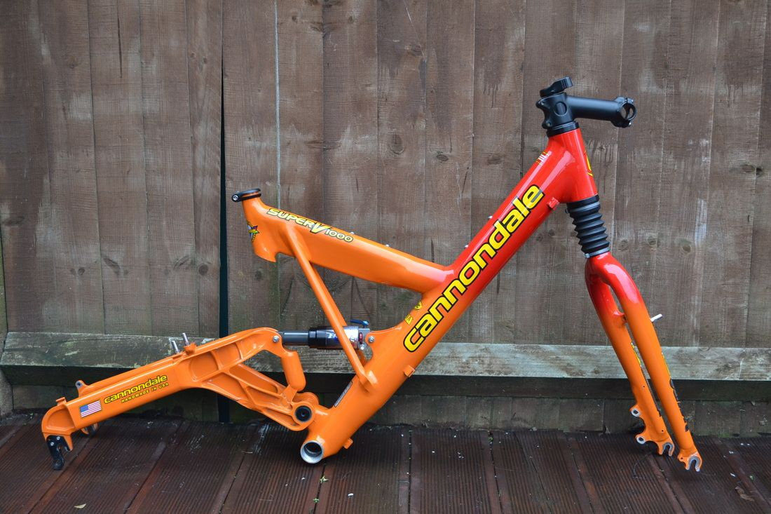 2000 Cannondale Super V 1000 full suspension retro mountain bike ...