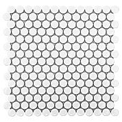 White Penny Porcelain Mosaic $2.99/pc, 10 in x 12 in