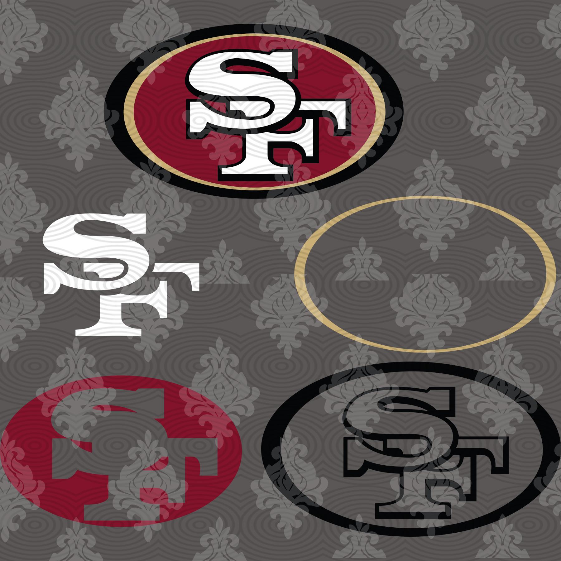 San Francisco 49ers,NFL svg, Football svg file, Football