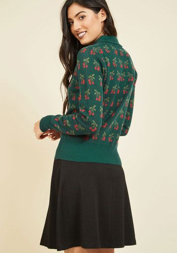 Keep Your Eyes on the Pies Cardigan | Mod Retro Vintage Sweaters | ModCloth.com