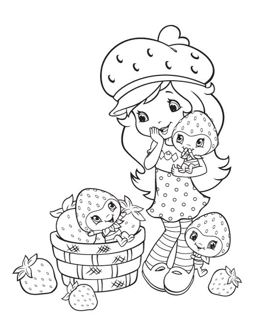 Strawberry Shortcake Color Pages | Coloring Pages | Pinterest ...