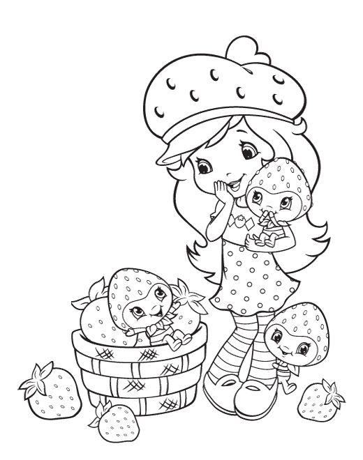 Strawberry Shortcake Color Pages | Projekty na vyzkoušení ...