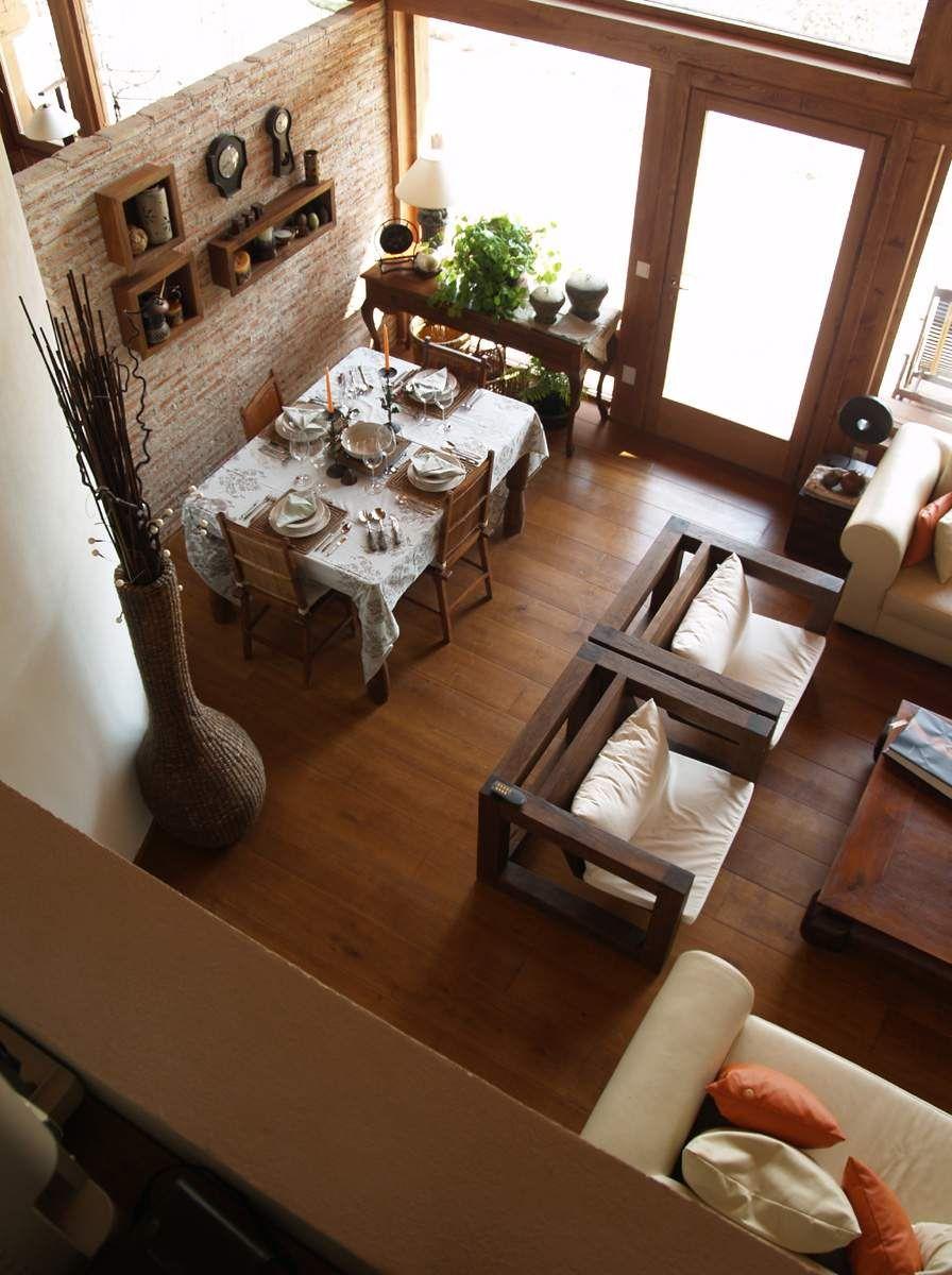 I love the cozy feel this has home muebles hogar - Decorar comedor rustico ...