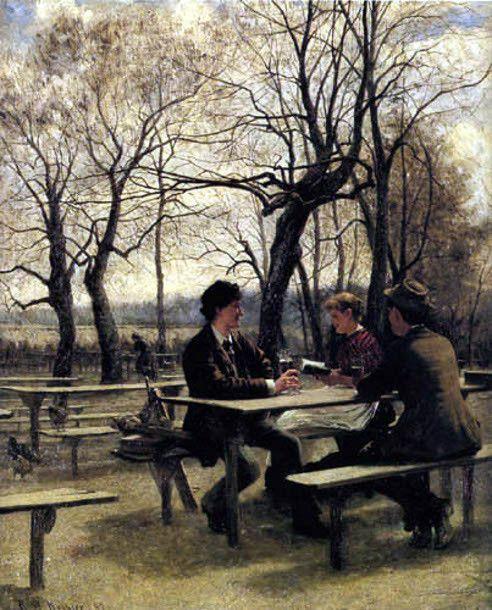 In The Park - Robert Koehler (1850 – 1917)
