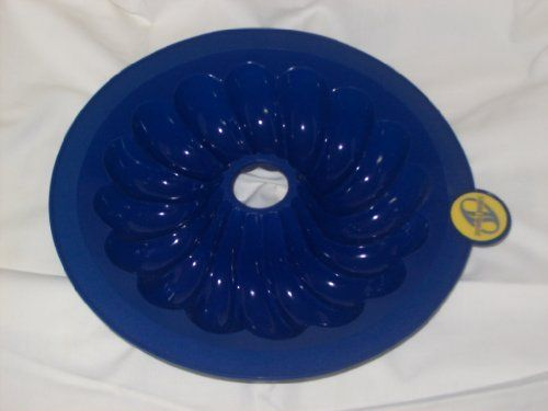 Smartware Cobalt Blue Silicone Bundt Pan 9inch You Can Get Additional Details At The Image Link Cake Pan Sizes Cake Pans Baking Pans
